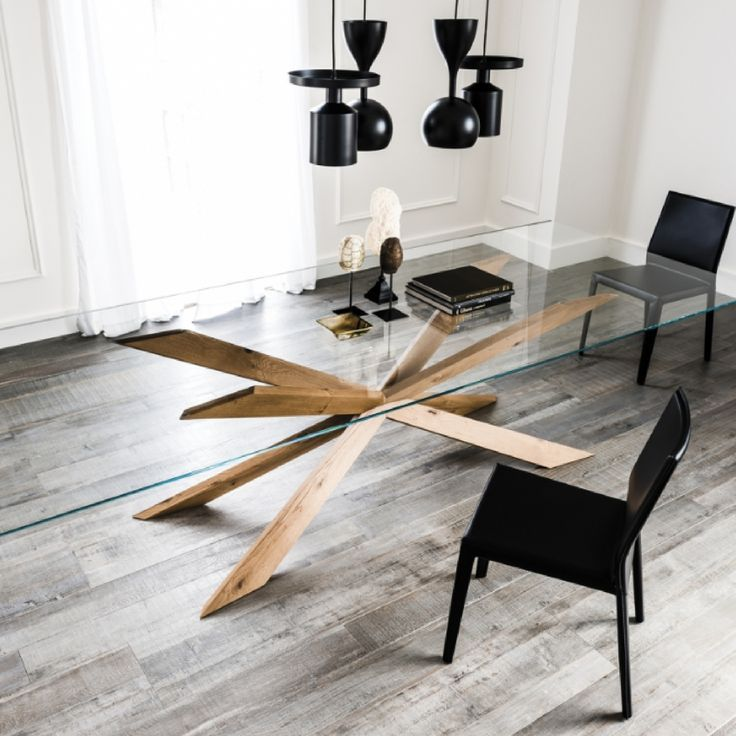 This Luxurious Designer Italian Dining Table Spyder By Cattelan Italia Comes With A Contemporar Modern Dining Table Italian Dining Table Dinning Table Design