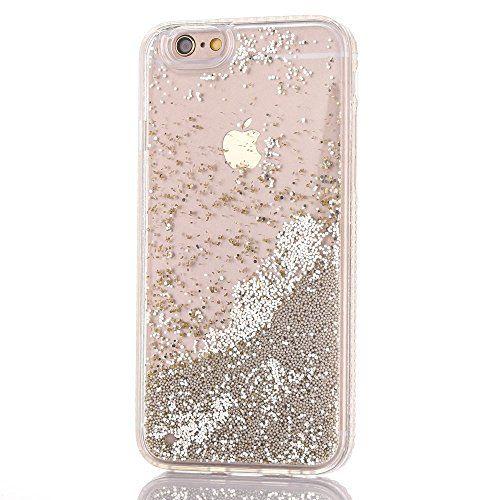 Coque iPhone 6 Transparent Or Liquide Sables Mouvants Etui iPhone ...