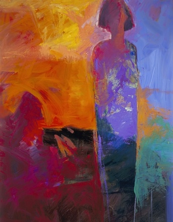 C H R I S  G W A L T N E Y    Alone But Not Lonely #4  oil/alkyd on canvas   48 x 36