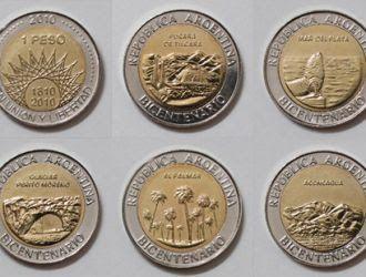 Bicentenario : Lanzan monedas de 1 peso por el Bicentenario