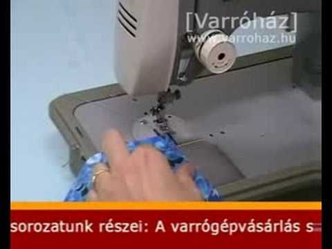 VARRÓTANFOLYAM - Szélek tisztázása háztartási varrógéppel