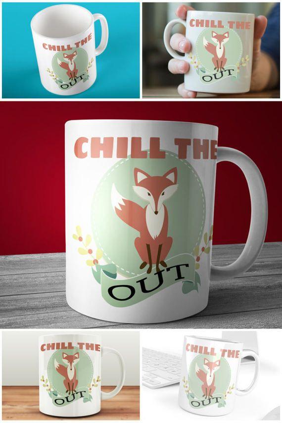 Imagine your morning coffee in this Chill The Fox Out Mug!  #prandski #mugsuk #foxmugs #funnymugs #muglife #muglove