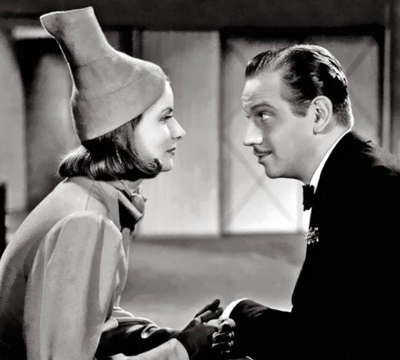 Greta Garbo and Melvyn Douglas in Ninotchka, 1939.