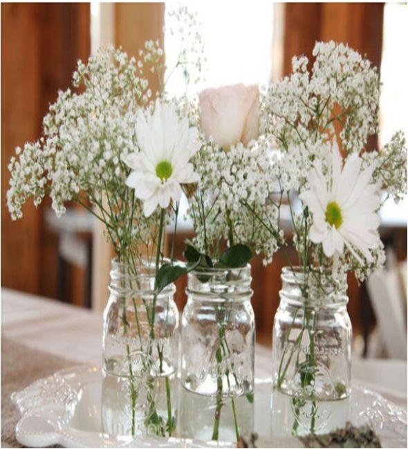 Wedding Flowers In Mason Jars: 67 Best Images About Mason Jar Centerpieces On Pinterest