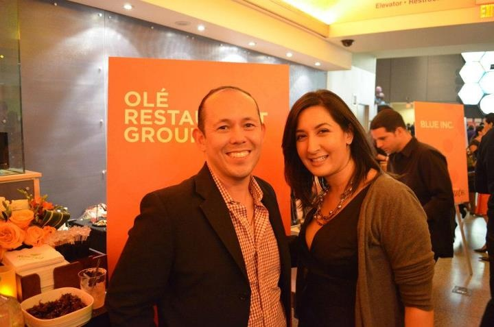Ricardo Ramos, Co-Owner of Ole Restaurant Group (Olé Mexican Grill, Zócalo, Olecito and Andale) and Donna Garlough, Food Editor of Boston Magazine at Boston Magazine's 2nd Annual Taste Event.