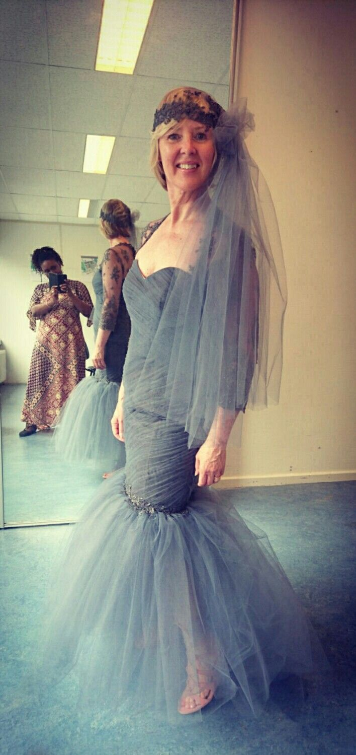 Grey Weddingdress made with love