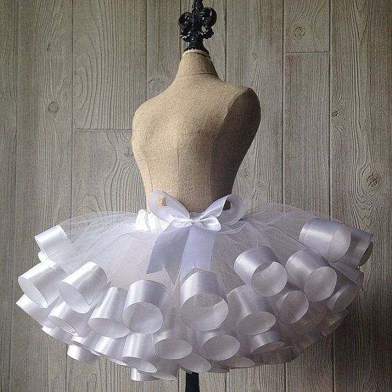 Ribbon Trimmed Tutu Sewn Tutu Custom Tutu Fluffy Tutu by Lexiana