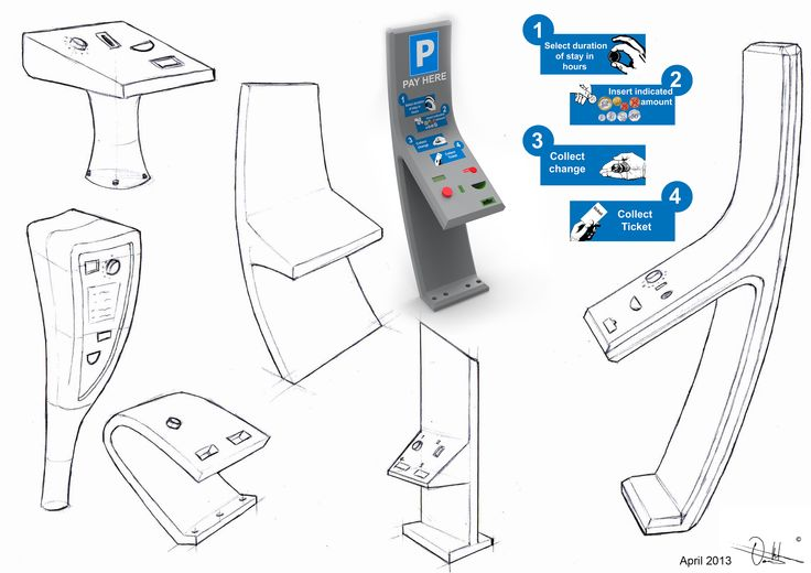 ergonomic parking ticket machine - Google Search