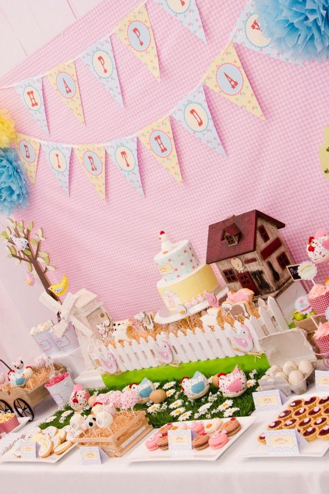 Anders Ruff Custom Designs, LLC: A Gorgeous Pastel Farm Party
