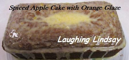 Spiced Apple Cake with Orange Glaze recipe using Musselman's Apple Butter and real oranges.