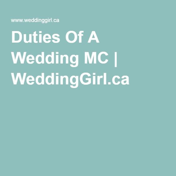 Best 25+ Wedding Mc Ideas On Pinterest