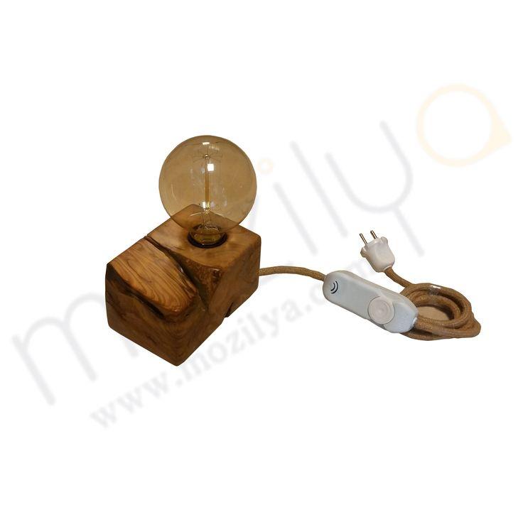 Mozilya Doğal Ahşap Zeytin Ağacı Aydınlatma  wood wooden lamp chandelier lighting unit  www.mozilya.com