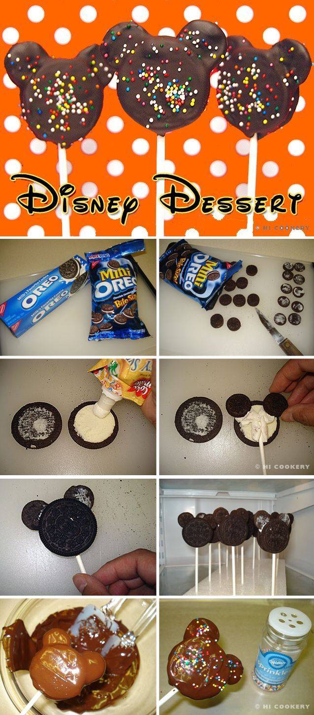 DIY MIckey Mouse Chocolate Oreo Pops desert diy recipe recipes desert recipes diy ideas party ideas diy food diy recipes kids parties kids recipes food tutorials