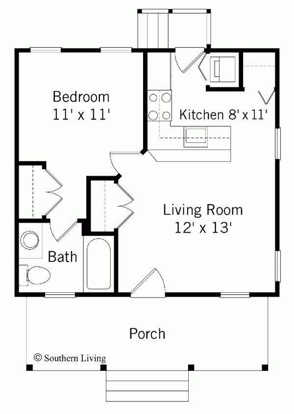 11 Best New House Images On Pinterest 1 Bedroom House Plans Guest House Plans Small House Floor Plans