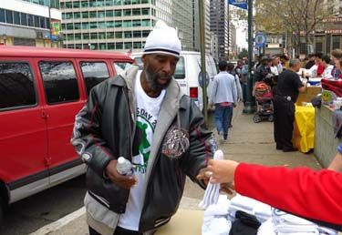 """Socks are among the most needed items at homeless shelters, yet among the least-often donated. According to Tom Costello Jr., founder and """"Chief Sock Person"""" at the Philadelphia-based nonprofit The Joy of Sox, even regular donors of clothing such as coats and pants will usually wear their own socks until they have holes and then throw them away."""