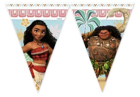 Disney Vaiana feestslinger vlaggenlijn plastic 230cm