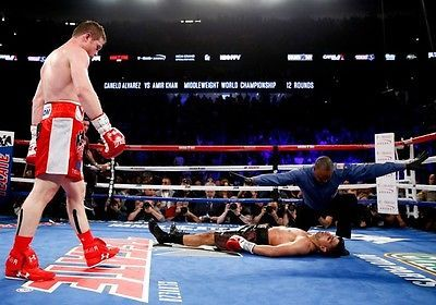 Saul canelo alvarez vs. amir khan #boxing #photo print #poster may 2016 fight 004,  View more on the LINK: http://www.zeppy.io/product/gb/2/162067325488/