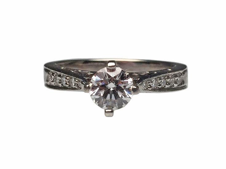 Lippa's Estate and Fine Jewelry - 14 Karat White Gold Canadian Diamond Engagement Ring, $4,100.00 (http://lippas.com/14-karat-white-gold-canadian-diamond-engagement-ring/)
