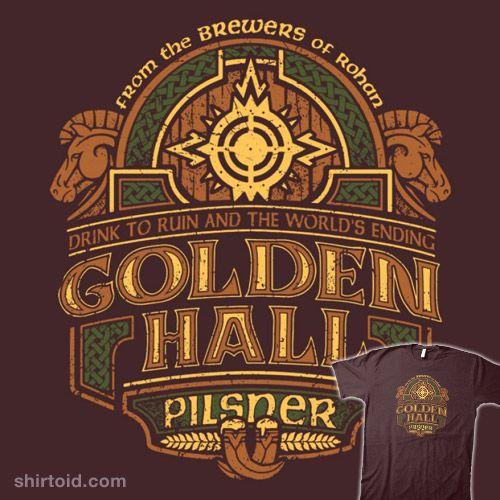 Golden Hall Pilsner #book #coryfreeman #film #jrrtolkien #label #middleearth #movie #thelordoftherings
