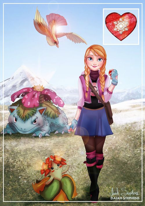 Frozen Pokemon Mashup Fan Art http://geekxgirls.com/article.php?ID=3142