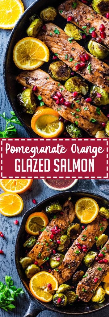 Pomegranate Orange Glazed Salmon