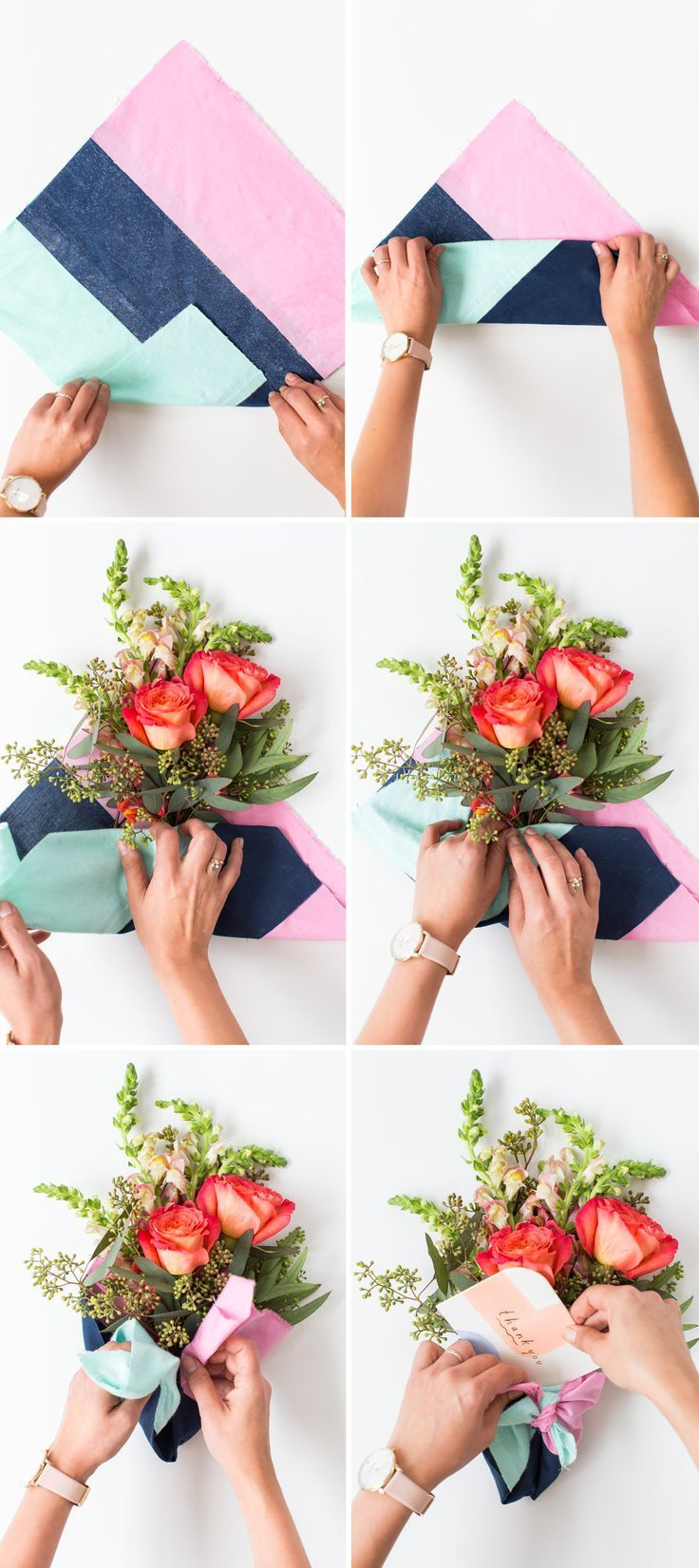 DIY Fabric Wrapped Bouquets for Gifting Flower bouquet