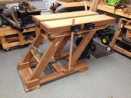 adjustable height split top workbench