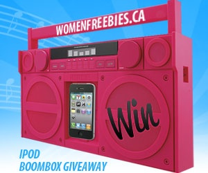 Win an iPod Boom Box from WomenFreebies