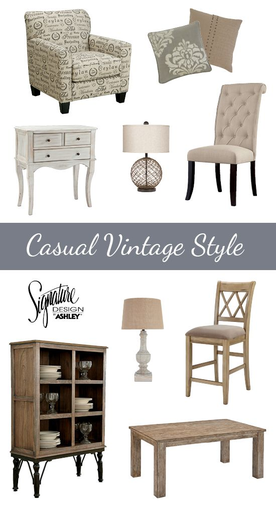 Casual Vintage Furniture Style   Ashley Furniture