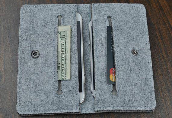 IPhone SE wallet  case,Iphone wallet case, Felt case iPhone 6 Plus case,iPhone 6s /plus case, iphone se felt case, phone case wallet, 1R507