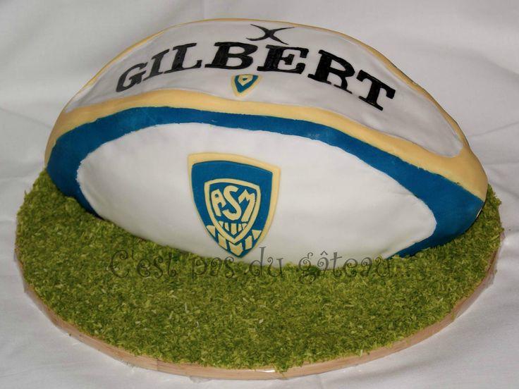 Gateau en forme ballon rugby