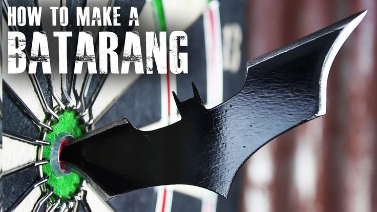 How to Make a Real Life Version of Batman's Batarang Out of an Old Table Saw Blade