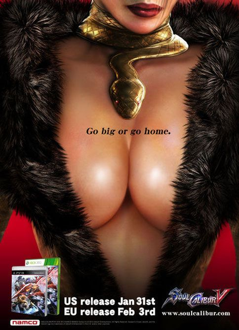 Gendered Objectification of women in gaming ads. (42% of all gamers are women)