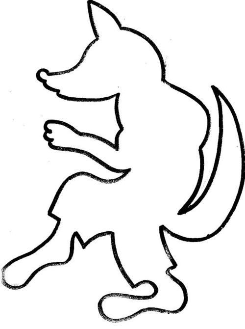 COIN MATERNELLE. silhouette de loup a remplir en papier maché