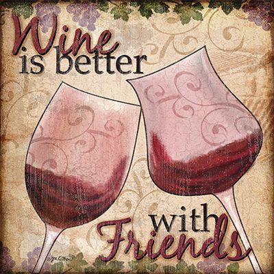 RB7393JK Wine With Friends II / Jen Killeen