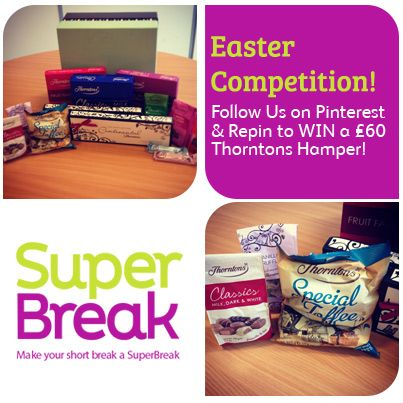 Follow us & Repin this image for your chance to #WIN this incredible Thorntons Chocolate Easter Hamper worth £60! T&Cs can be found at superbreakblog.com