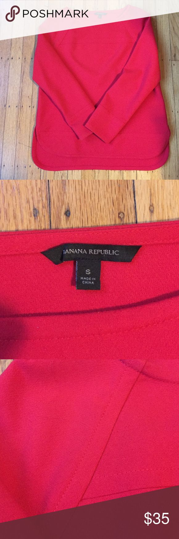 Beautiful Banana Republic top - great fit & color! EUC Banana Republic top. Great color, boatneck, and slightly longer back hem all come together to make it a great look that is also really comfortable! Please let me know if you have any questions and thanks for visiting my closet! Banana Republic Tops