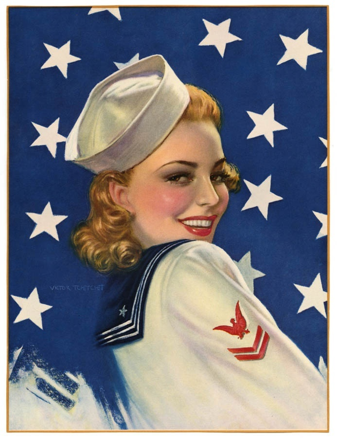 victor tchetchet 1940s wwii pin up victory girl navy sailor 1940s pin up girls pinterest. Black Bedroom Furniture Sets. Home Design Ideas