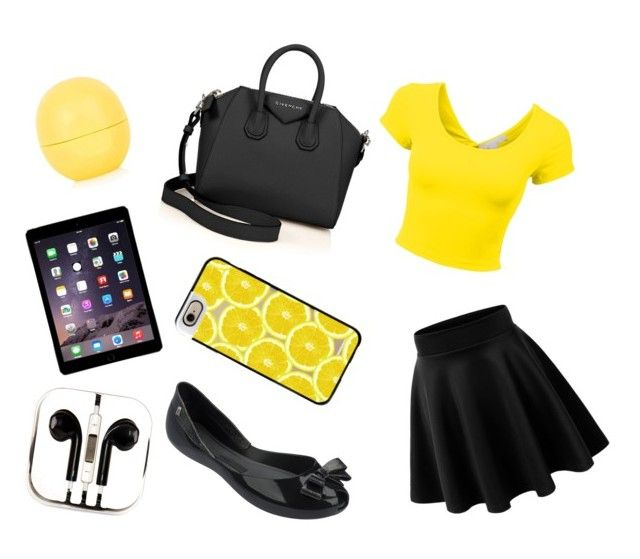 """""""Yellow"""" by dadacookie on Polyvore featuring Givenchy, Melissa, Topshop, Casetify and PhunkeeTree"""