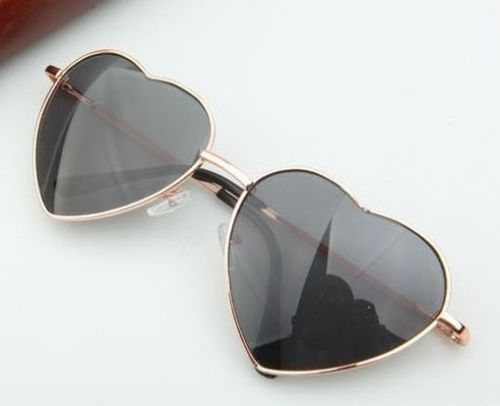 Heart-Shaped-Woman-Fashion-Accessories-Eyewear-Teen-Orange-Lens-Retro-Sunglasses