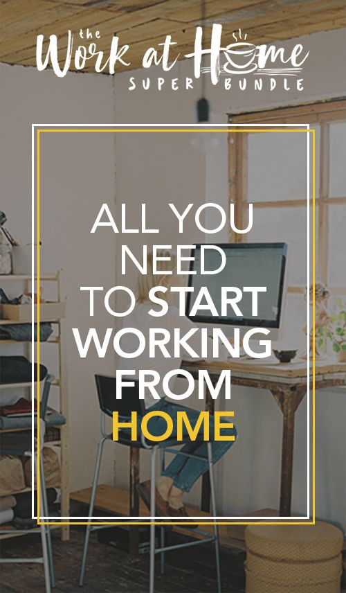 Work at home super bundle: all you need to start working from home https://www.therandomp.com/bundle If you've thought about starting a location independent career and want to start working online, make sure to check out this Work at Home Super Bundle!