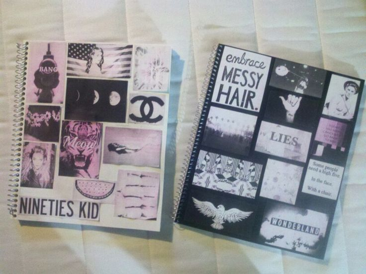 Book Cover School Supplies : Diy tumblr inspired notebooks like board