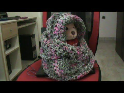 Πλεκτή κασκολοκουκούλα με βελονάκι - YouTube