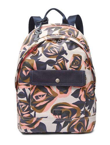 Sac à dos Fossil blue backpack flower floral