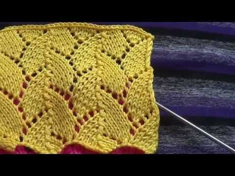 Ажурный спицами - Openwork knitting needles - YouTube