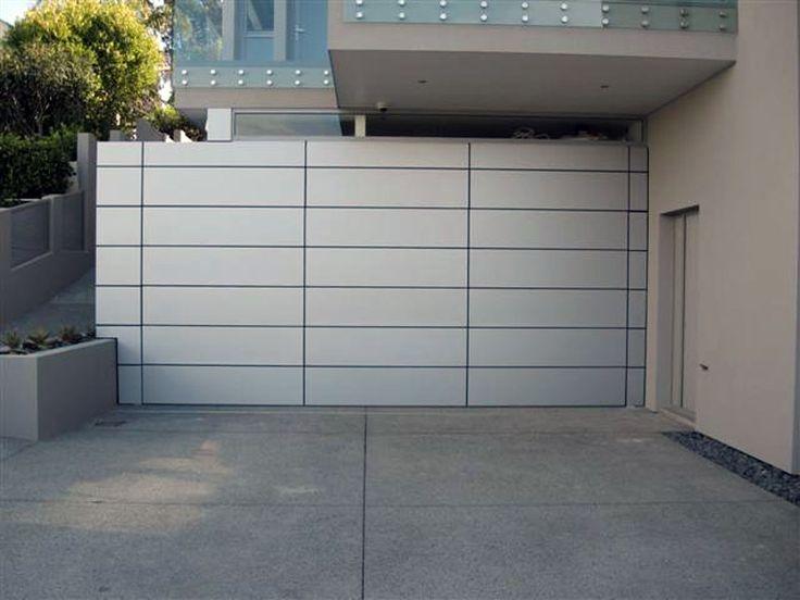 Doors4U Garage Doors - Aluminium Composite with negative detail, flush fit