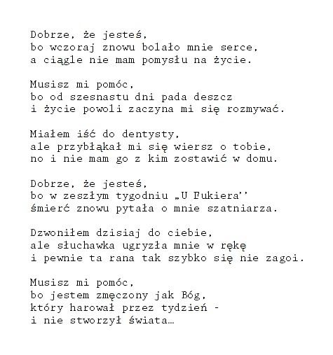 """somanydesires: """" by Jarosław Borszewicz. ten wiersz to jeden piękny cytat """""""