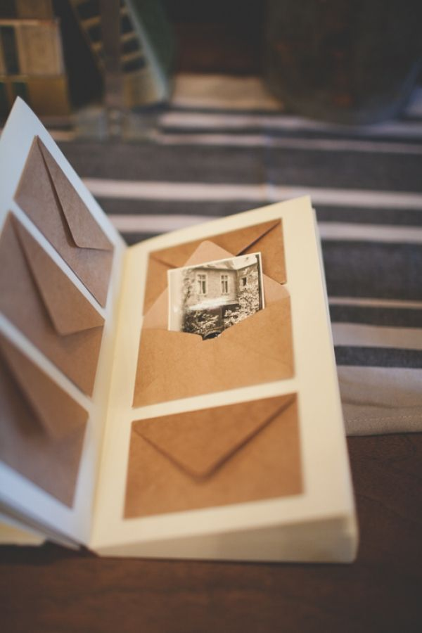 kraft envelope guest books // photo by Floataway Studios - for a house guest book