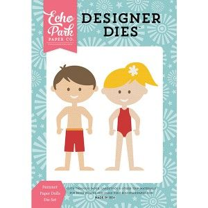 Vágósablon , Happy Summer / Designer Dies - Paper Dolls  (1 csomag)