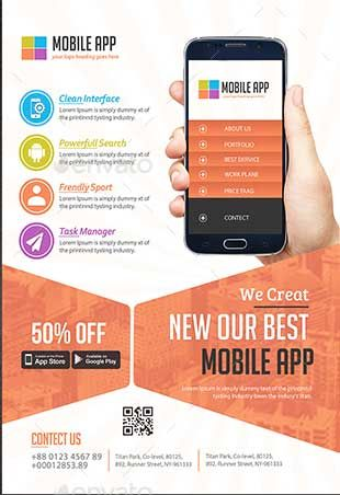 60 Best Mobile App Promotion Flyer Templates 2020 App